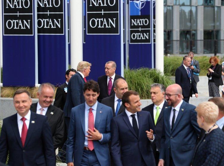 Başkan Erdoğan'ın da katıldığı NATO zirvesinden ilk kareler...