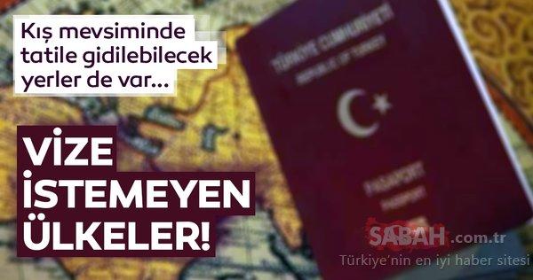 2018 sonu itibariyle Türk vatandaşlarından vize istemeyen ülkeler