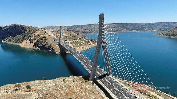Doğu Anadolu'nun boğaz köprüsü Nissibi Köprüsü'nden ayda 54 bin araç geçiyor
