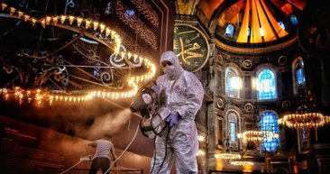 Ayasofya-i Kebir Cami-i Şerifi 86 yıl sonra ilk bayramına hazırlanıyor