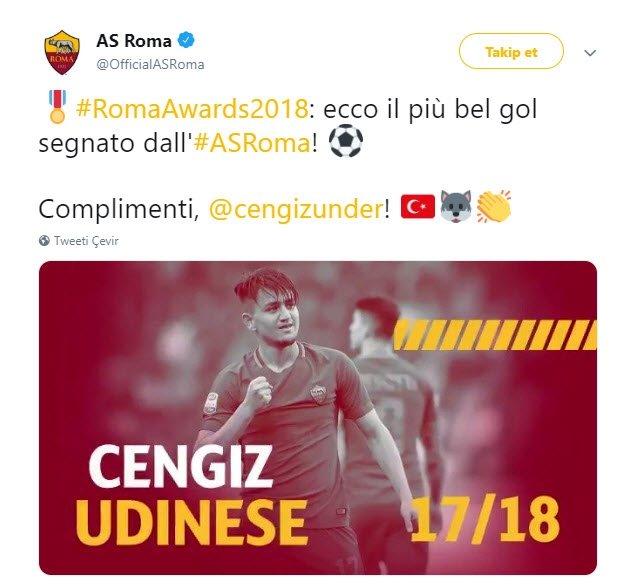 Yılın en iyi golü Cengiz Ünder'den!