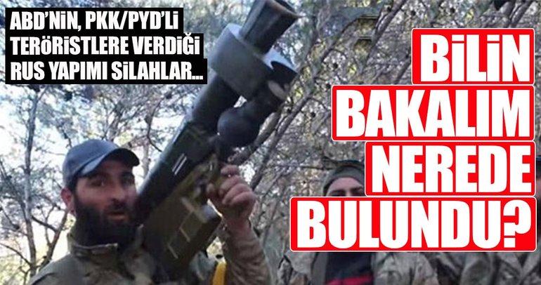 ABD'nin PKK/YPG/PYD'li teröristlere verdiği uçaksavar ele geçirildi