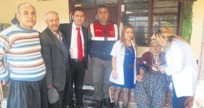 Şehit ailesine asker desteği