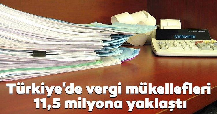 Türkiye'de vergi mükellefleri 11,5 milyona yaklaştı