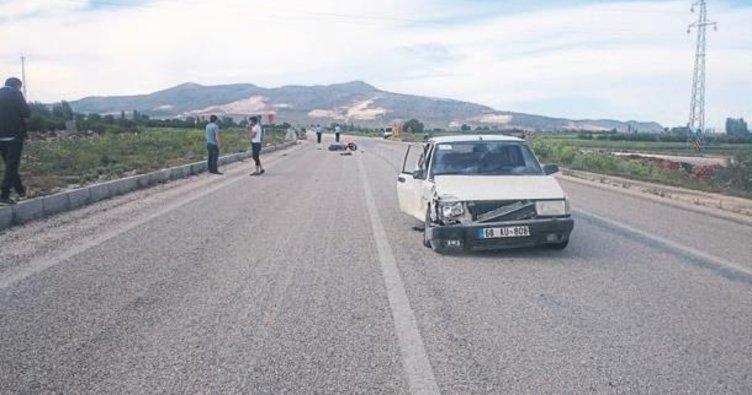 Motosikletli genç kaza kurbanı oldu
