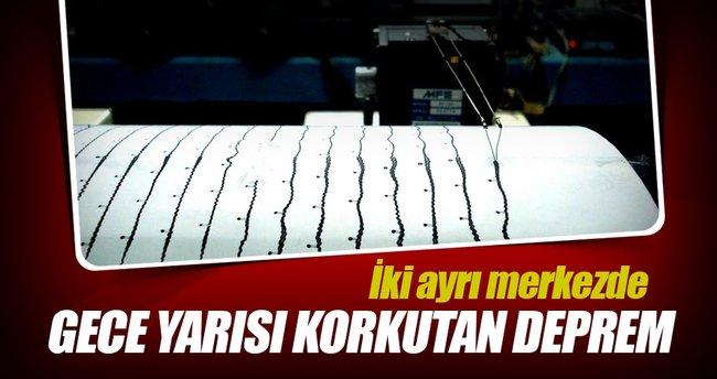 Muğla ve Erzincan'da deprem