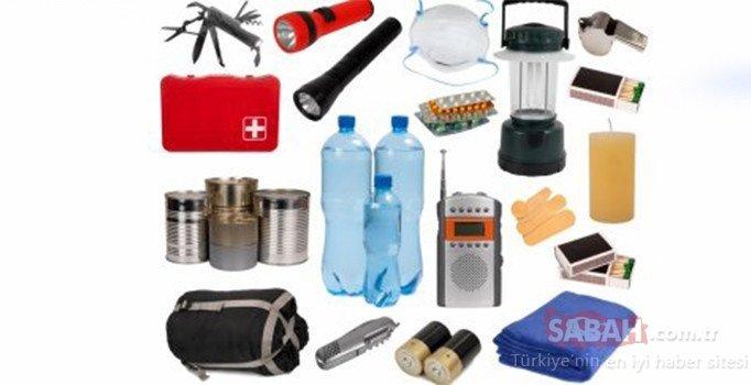Deprem çantasında bulunması gerekenler neler? İşte deprem çantasının maliyeti ve malzemeleri...