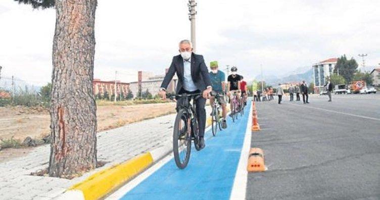 Isparta'ya yeni bisiklet yolu