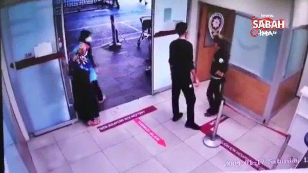 Maske takmayan kadın hastanede adeta terör estirdi... O anlar kamerada | Video
