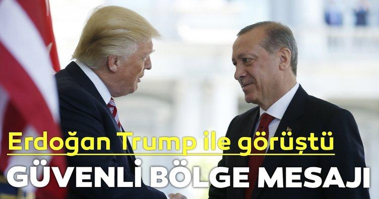 Başkan Erdoğan Trump ile telefonda görüştü