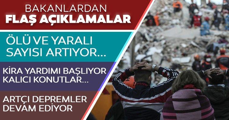 Son dakika haberi: İzmir'deki depremin ardından ölü ve yaralı sayısı artıyor! Vatandaşlara kira yardımı yapılacak; TOKİ kalıcı konutlar...