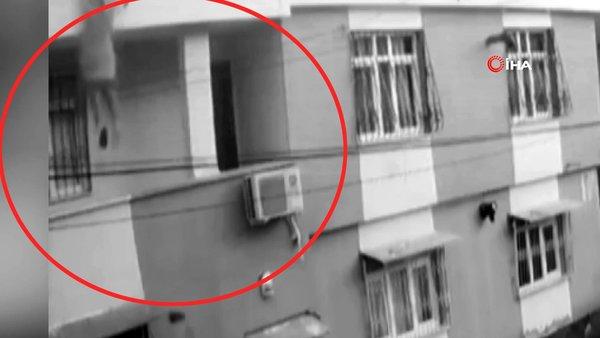 SON DAKİKA: Adana'daki dehşetin görüntüleri ortaya çıktı! Talihsiz kadının yere çakılma anı kamerada   Video