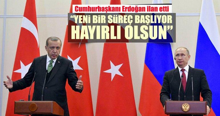 Cumhurbaşkanı Erdoğan ve Putin'den ortak açıklama geldi! Yeni bir süreç başlıyor