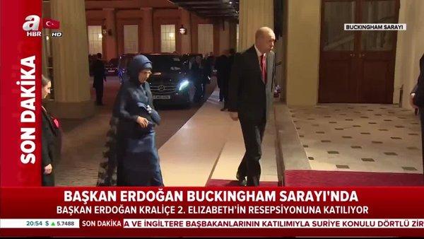 Başkan Erdoğan Buckingham'a geldi