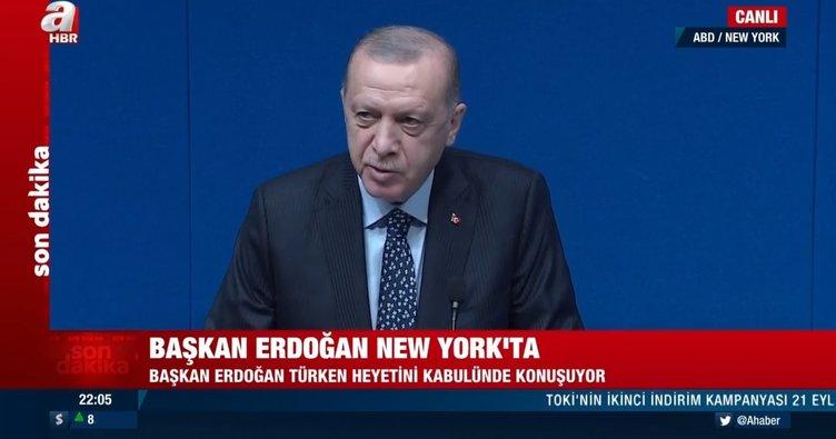 Son dakika! Başkan Erdoğan'dan ABD'de net mesaj: Bizim terör örgütlerine kaptıracak tek bir gencimiz yok