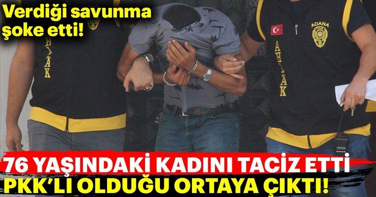 76 yaşındaki kadına cinsel tacizde bulunan kişi PKK'lı çıktı!