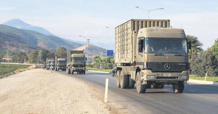Sınıra askeri sevkıyat