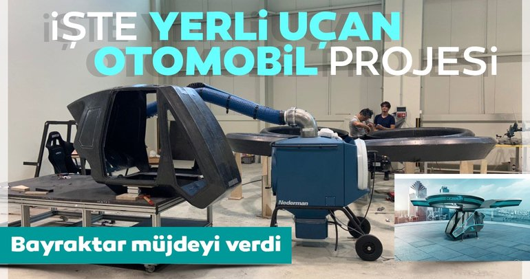Bayraktar müjdeyi verdi! İşte yerli uçan otomobil projesi Cezeri'den ilk kareler