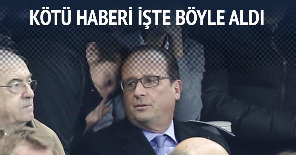 Hollande Paris'teki saldırıları böyle haber aldı