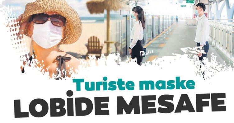 Turiste maske lobide mesafe