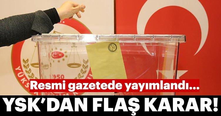 YSK'nın seçmen nakil istemiyle ilgili seçim kararı yayınlandı