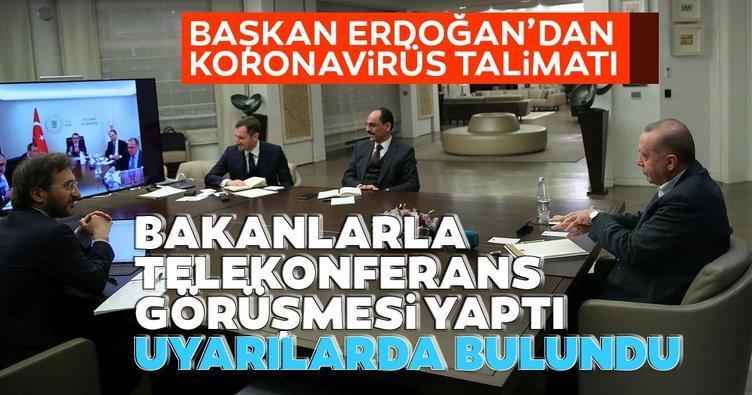 Başkan Erdoğan'dan son dakika corona virüsü toplantısı!