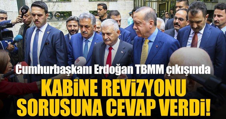Kabine revizyonu olacak mı? Erdoğan'dan açıklama!
