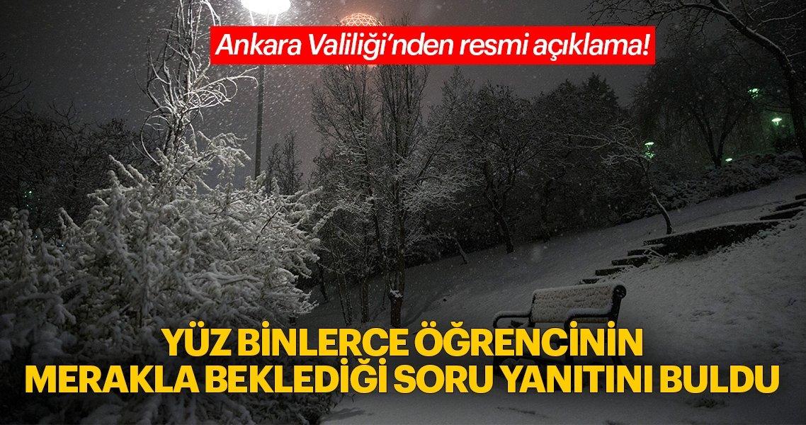 Ankara'da yarın okullar tatil mi? Ankara Valiliği'nden son dakika kar tatili açıklaması! 14 Aralık...