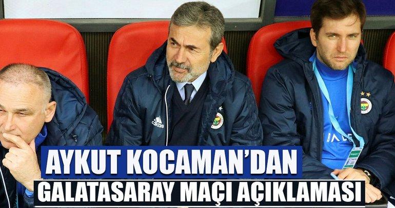 Aykut Kocaman: Galatasaray'ı yenmeyi başaracağız.