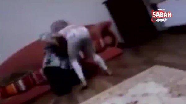 İstanbul'da dehşet anları kamerada... Nurcan Serçe isimli kadın küçük kızına şiddet uygulayıp yüzüne yastık bastı | Video