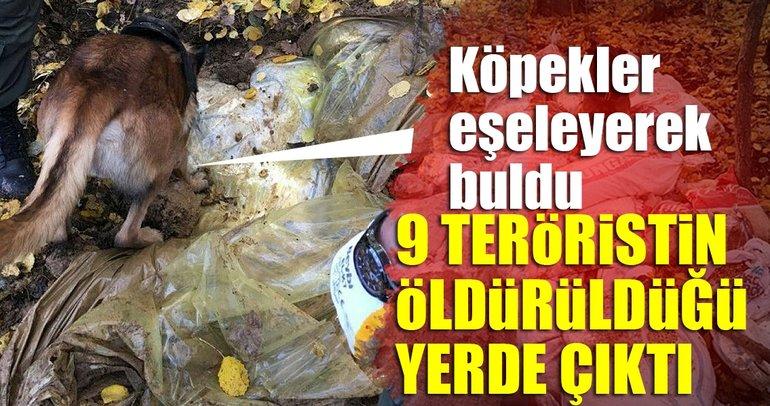 Son dakika haberi: Tunceli'de 9 PKK'lının öldürüldüğü yerde bulundu