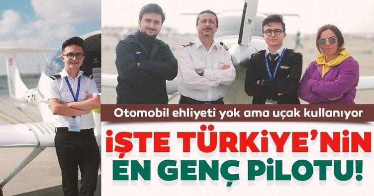Otomobil ehliyeti yok ama uçak kullanıyor! İşte Türkiye'nin en genç pilotu
