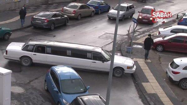 Ankara sokaklarında limuzinin zor anları | Video