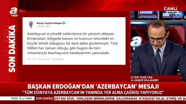 Son dakika | Cumhurbaşkanı Erdoğan'dan flaş Azerbaycan açıklaması | Video