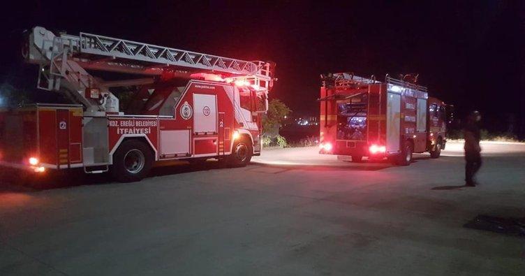 Fabrikada yangın ihbarı itfaiye ekiplerini harekete geçirdi