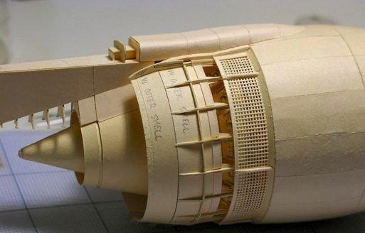 Kağıttan Boeing 777 yaptı