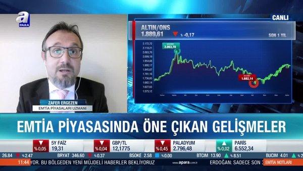 Emtia Piyasaları Uzmanı Zafer Ergezen: Altın fiyatları enflasyon verisine odaklandı