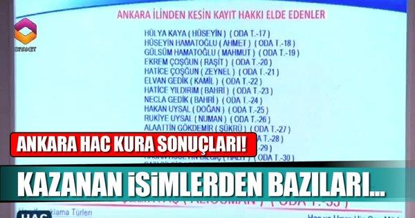 Ankara hac kura çekiliş sonuçları isim isim liste! 2018 Hac kurasında çıkan isimlerden bazıları...