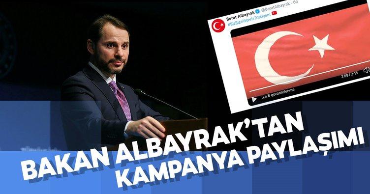 Bakan Albayrak'tan Biz Bize Yeteriz Türkiyem kampanyası paylaşımı