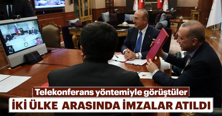 Erdoğan ve Maduro telekonferansla anlaşma imzaladı