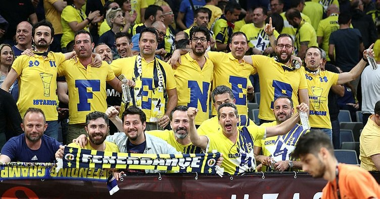 Fenerbahçe taraftarı Final Four'a damga vurdu!