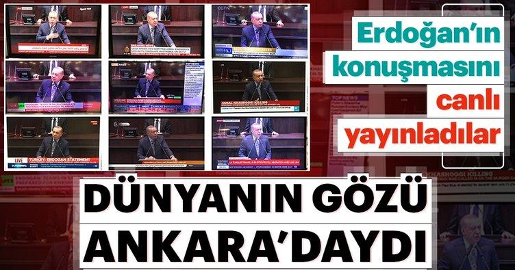Dünya televizyonları Erdoğan'ı canlı verdi!
