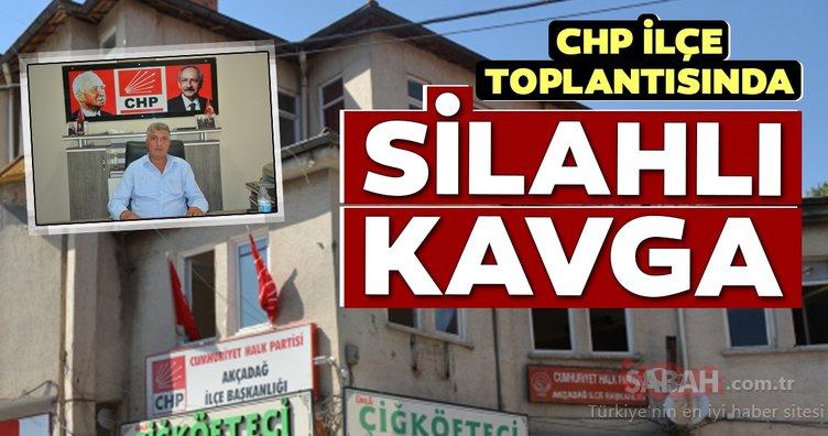 CHP Akçadağ İlçe Başkanlığında silahlı kavga: Tek el ateş etti