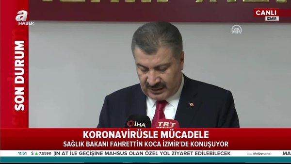 Sağlık Bakanı Fahrettin Koca'dan İzmir'de flaş açıklamalar   Video