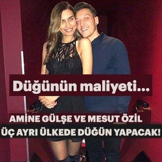 Güzel oyuncu Amine Gülşe ve Mesut Özil üç ayrı ülkede düğün yapacak