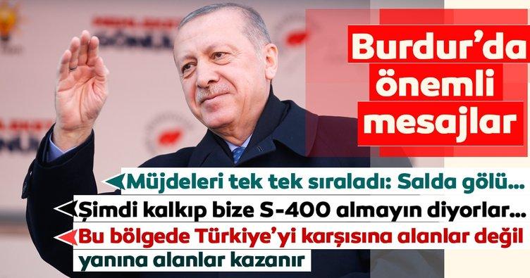 Başkan Erdoğan'dan Burdur'da önemli açıklamalar