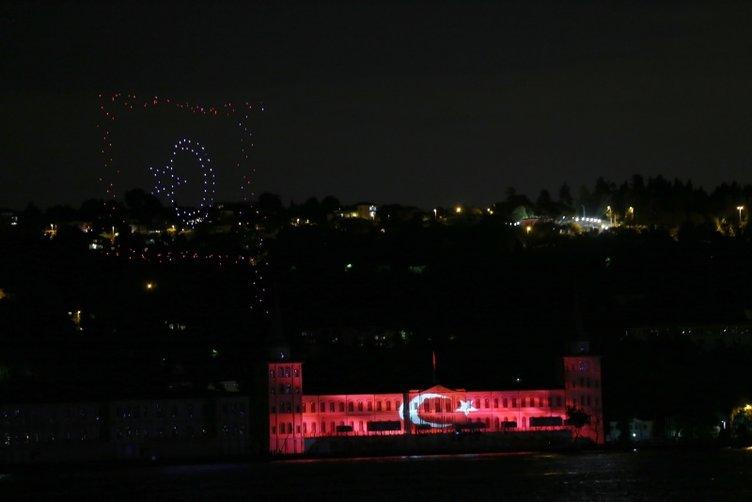 Milletin 15 Temmuz'daki zaferi 200 drone ile gökyüzüne yansıtıldı