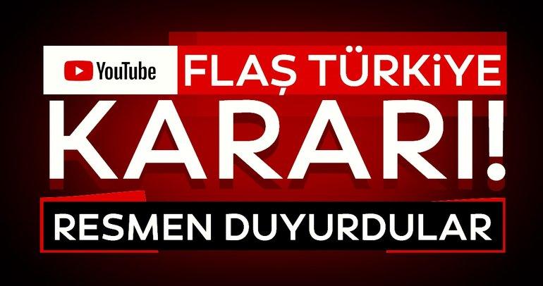 Son dakika haberi | Youtube'dan flaş Türkiye kararı: Resmen duyurdular...