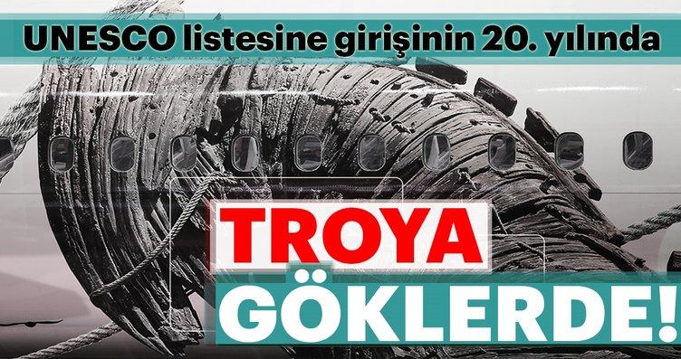 Türk Hava Yolları'nın 'Troya' temalı uçağı...