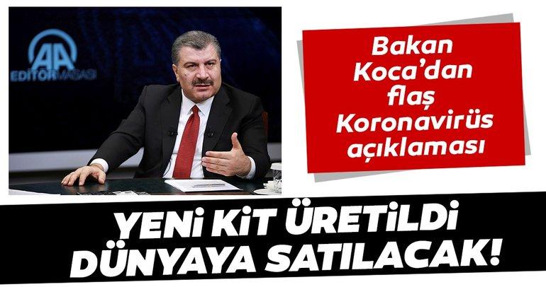Bakan Fahrettin Koca'dan flaş Koronavirüs açıklaması: Tanı Kitini yurt dışına satacağız.